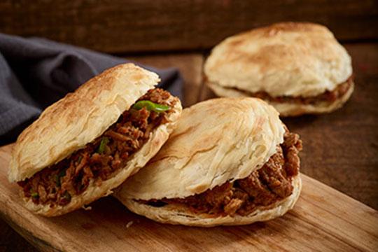 西北杂粮筐肉夹馍产品