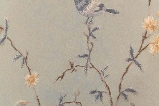 宏绣刺绣墙布产品图