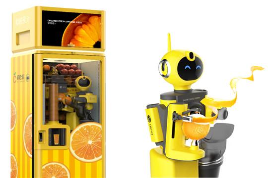 新橙派果汁机器人加盟产品图