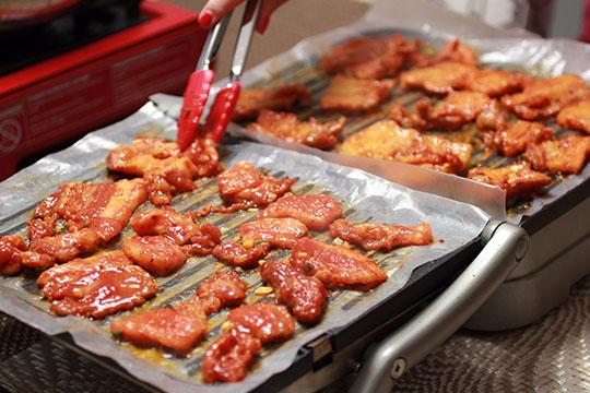 阿台烤五花肉美食展示
