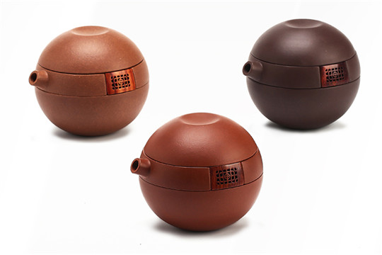 百年丹红紫砂茶器