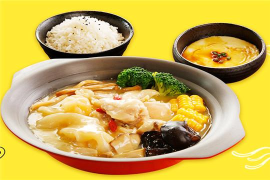米小六花胶鸡米饭