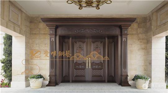 别墅铜大门很受别墅业主的欢迎