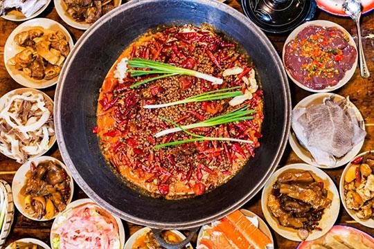 辣叁成烧菜火锅