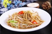 绿豆芽炒莜面