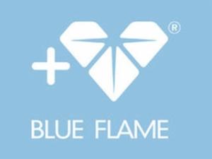 蓝色火焰珠宝